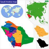 Saudi Arabia map — Stock Vector