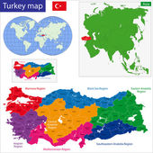 Turkey map — Stock Vector