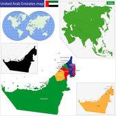 United Arab Emirates map — Stock Vector