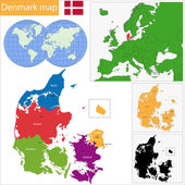Denmark map — Stock Vector