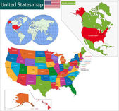 Colorful USA map — Stock Vector