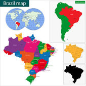 Brazil map — Stock Vector