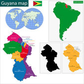Guyana map — Stock Vector