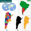 Argentina map — Stock Vector #46225615