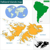 Falkland Islands map — Stock Vector