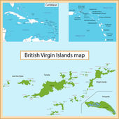 British Virgin Islands map — Stock Vector