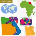 Постер, плакат: Egypt map