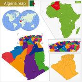 Algeria map — Stock Vector