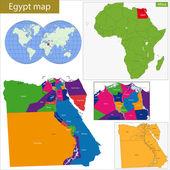 Egypt map — Stock Vector