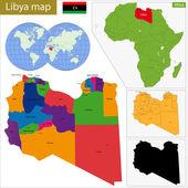 Libya map — Stock Vector