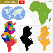 Tunisia map — Stock Vector