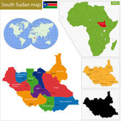 South Sudan map — Stock Vector