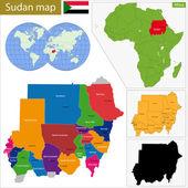 Sudan map — Stock Vector