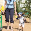 Walking at playground — Stock Photo