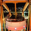 Family in cabin of Ferris Wheel — Stock Photo