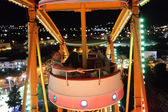 Family in cabin of Ferris Wheel — Stock Photo