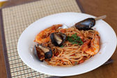 Spaghetti seafood — Stock Photo