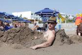 Man on beach — Stock Photo