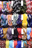 Bright scarves — Stock Photo