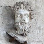 Head of a Triton on wall — Stock Photo