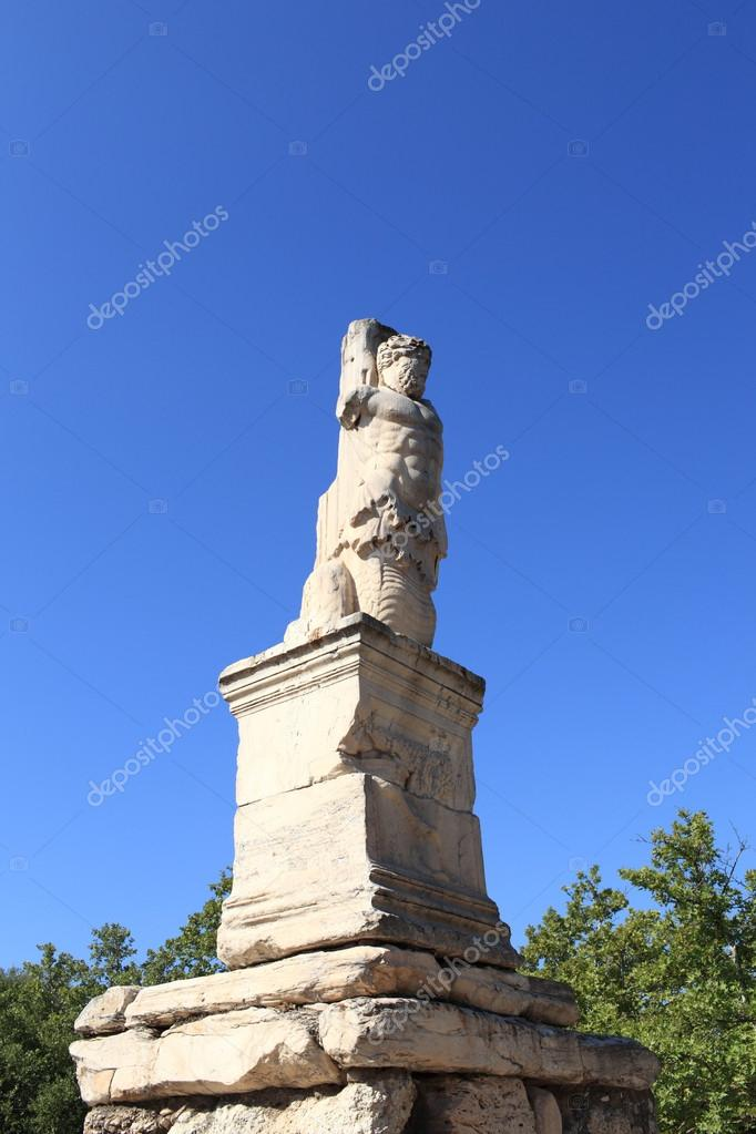 Figure of Triton in the Odeion of Agrippa, Athens, Greece — Stock Photo #14678485