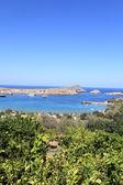 View coast of Lindos — Stock Photo