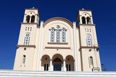 Facade of greek church — Stock Photo