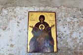 Icon inside Tsambika monastery — Stock Photo