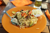Spaghetti with vegetables — Foto Stock