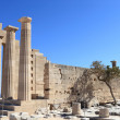 Doric Temple of Athena Lindia view — Stock Photo