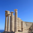 Stock Photo: Pillars of Doric Temple of AthenLindia