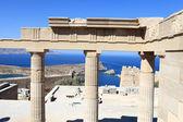 Details of propylaea of Lindos Acropolis — Stock Photo