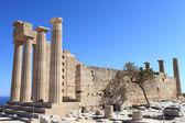 Doric Temple of Athena Lindia view — Stock Photo