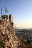 Saint George's chapel on top Mount Lycabettus — Stok fotoğraf