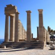 Facade of Doric Temple of Athena Lindia — Stock Photo