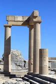 Pillars of Hellenistic stoa — Stock Photo