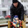 Grandfather with toddler — Stock Photo