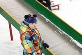 Toddler near slide — Stock Photo