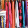 Stock Photo: Summer scarfs at shop