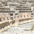 Marble thrones in the Theater of Dionysus — Stock fotografie