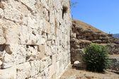 часть стены афинский акрополь — Стоковое фото