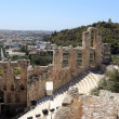 Fragment of Odeon of Herodes Atticus — Stock Photo
