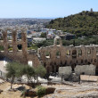 Stock Photo: Lanscape of ancient Odeon of Herodes Atticus