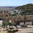 Lanscape of ancient Odeon of Herodes Atticus — Stock Photo