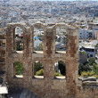 Stock Photo: View of wall of Odeon of Herodes Atticus
