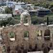 Stock Photo: Wall of Odeon of Herodes Atticus