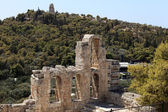 Details of wall of Odeon of Herodes Atticus — Stock Photo