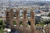 View of wall of Odeon of Herodes Atticus — Stock Photo
