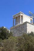 Pohled propyleje aténské akropole — Stock fotografie