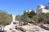 Way to Propylaea of the Athenian Acropolis — Stock Photo